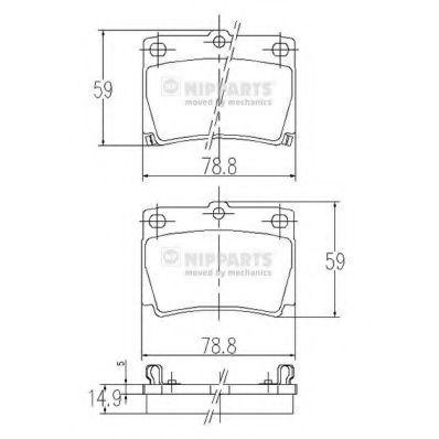 Колодки тормозные NIPPARTS J3615011