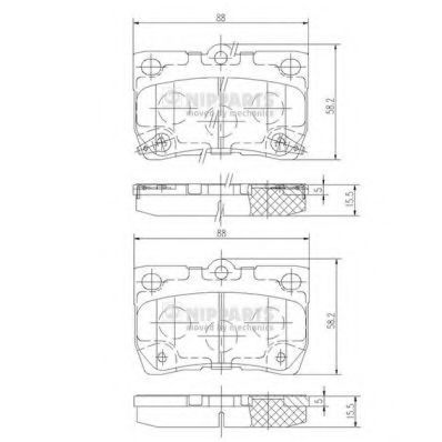 Колодки тормозные NIPPARTS N3612041