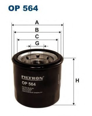 Фильтр масляный FILTRON OP564