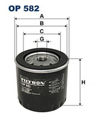 Фильтр масляный FILTRON OP582