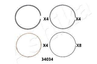 Поршневое кольцо ASHIKA 3434034