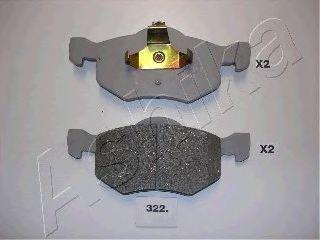 Колодки тормозные дисковые ASHIKA 50-03-322