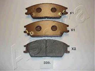Колодки тормозные дисковые ASHIKA 50-03-339