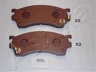 Колодки тормозные дисковые ASHIKA 50-03-399