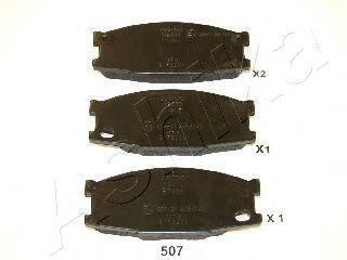 Колодки тормозные ASHIKA 50-05-507