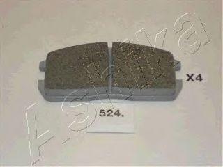 Колодки тормозные дисковые ASHIKA 50-05-524