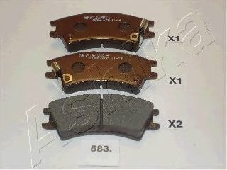 Колодки тормозные ASHIKA 50-05-583