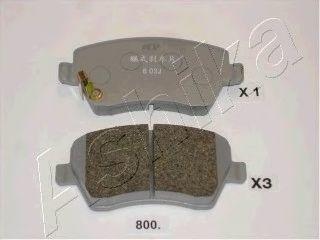 Колодки тормозные дисковые ASHIKA 50-08-800