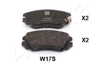 Колодки тормозные ASHIKA 50-0W-W17