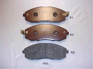 Колодки тормозные дисковые ASHIKA 50-H0-002