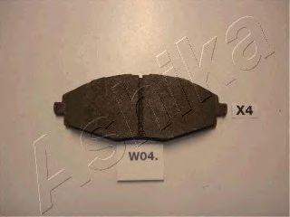 Колодки тормозные дисковые ASHIKA 50-W0-004