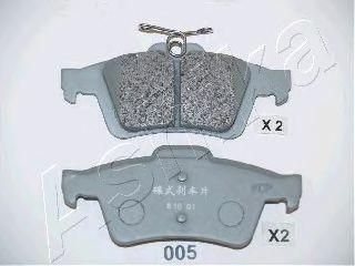 Колодки тормозные дисковые ASHIKA 51-00-005