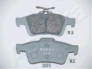 Колодки тормозные ASHIKA 51-00-005