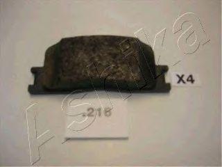 Колодки тормозные дисковые ASHIKA 51-02-216