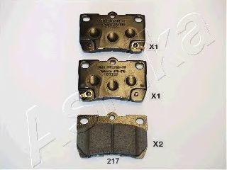 Колодки тормозные дисковые ASHIKA 51-02-217