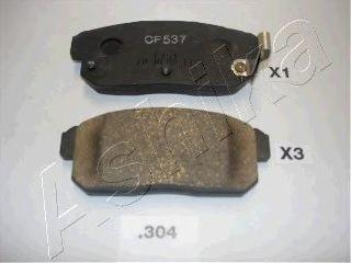 Колодки тормозные ASHIKA 5103304