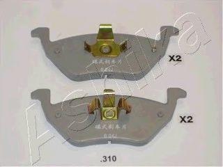 Колодки тормозные ASHIKA 51-03-310