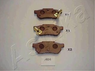 Колодки тормозные дисковые ASHIKA 51-04-404