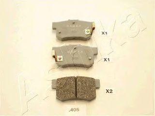 Колодки тормозные дисковые ASHIKA 51-04-405
