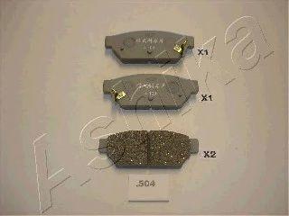 Колодки тормозные дисковые ASHIKA 51-05-504