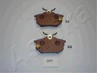 Колодки тормозные дисковые ASHIKA 51-05-507