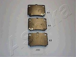 Колодки тормозные ASHIKA 5105592