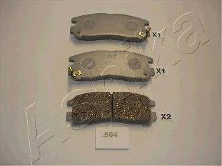 Колодки тормозные ASHIKA 51-05-594