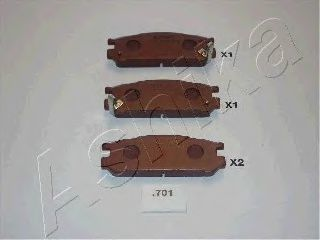 Колодки тормозные ASHIKA 51-07-701