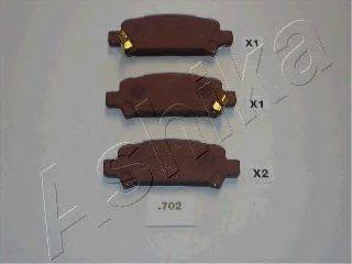 Колодки тормозные ASHIKA 51-07-702