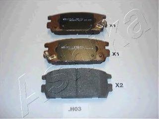 Колодки тормозные дисковые ASHIKA 51-0H-H03