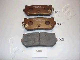 Колодки тормозные ASHIKA 51-0K-K00