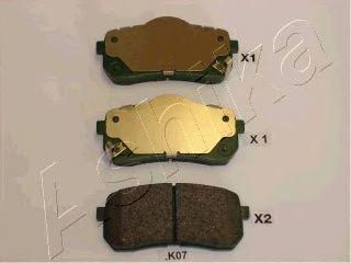 Колодки тормозные дисковые ASHIKA 51-0K-K07