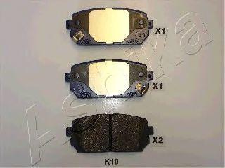 Колодки тормозные ASHIKA 51-0K-K10