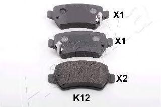 Колодки тормозные ASHIKA 51-0K-K12