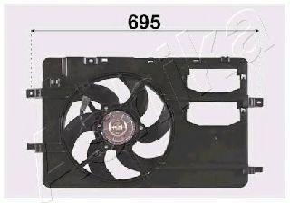 Вентилятор, охлаждение двигателя ASHIKA VNT162001