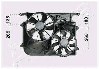 Вентилятор, охлаждение двигателя ASHIKA VNT312011