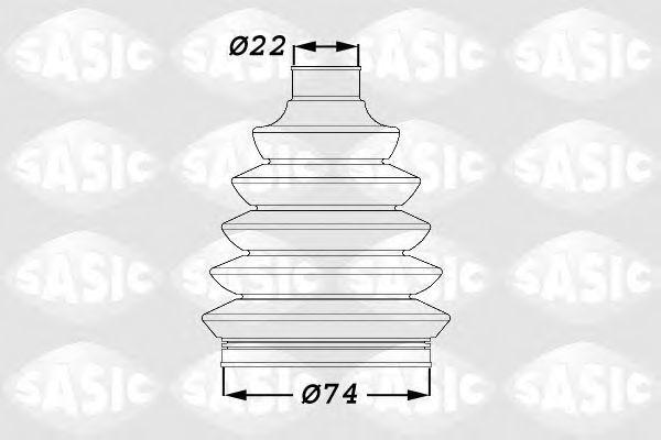 Пыльник ШРУС SASIC 1900011