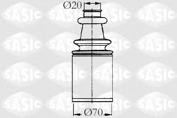 Пыльник рулевой рейки SASIC 2873693