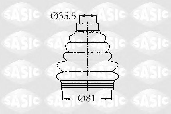 Пыльник ШРУС SASIC 2933203