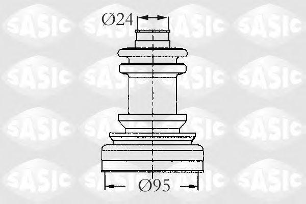 Пыльник ШРУС внешний SASIC 2933423