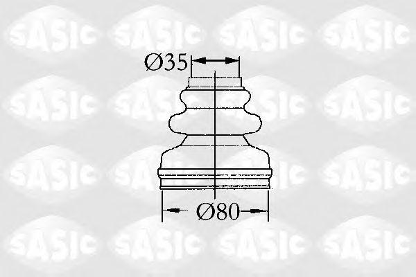 Пыльник ШРУС внутренний SASIC 2873813