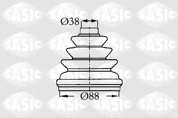 Пыльник ШРУС SASIC 2873803