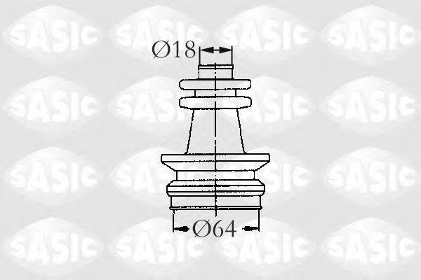 Пыльник рулевой рейки SASIC 2873653