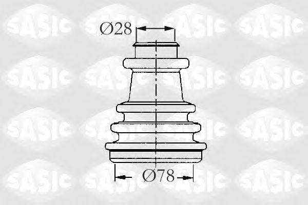 Пыльник ШРУС внешний SASIC 2933733