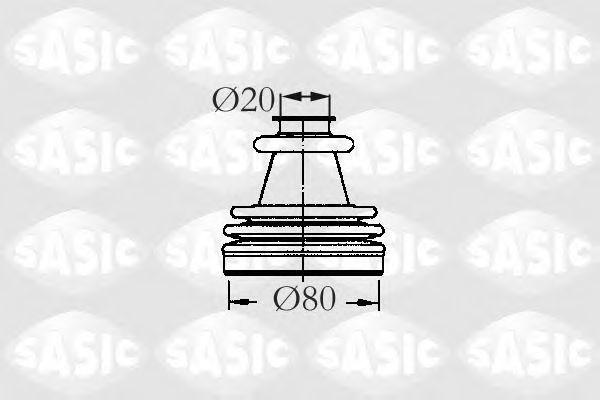 Пыльник рулевой рейки SASIC 2933773