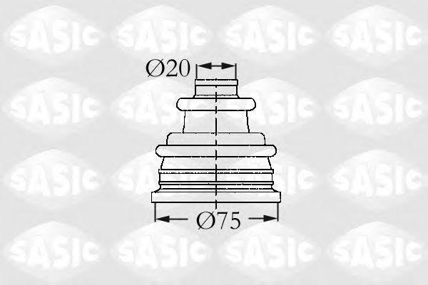 Пыльник рулевой рейки SASIC 4003404