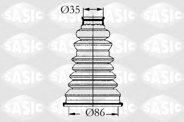Пыльник ШРУС внешний SASIC 4003432
