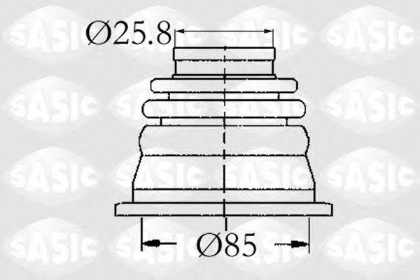 Пыльник ШРУС внутренний SASIC 4003408