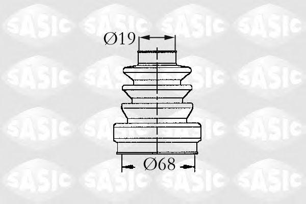 Комплект пылника, приводной вал SASIC 9004636