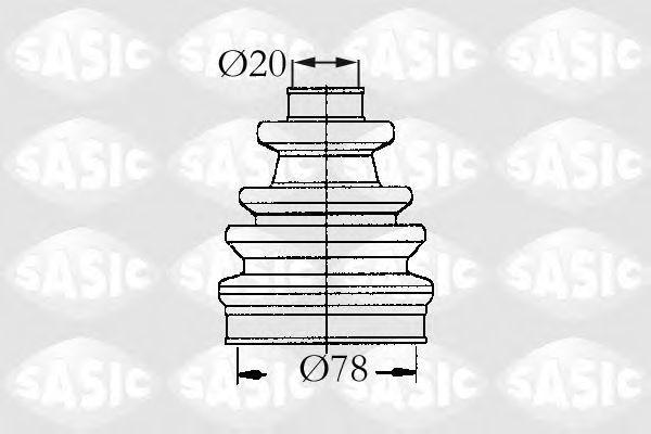 Комплект пылника, приводной вал SASIC 9004637
